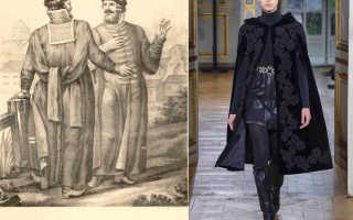 Что такое охабень и как он выглядит в женской моде