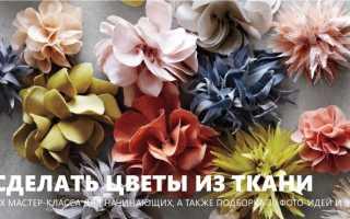 Цветы из ткани фото для образцов
