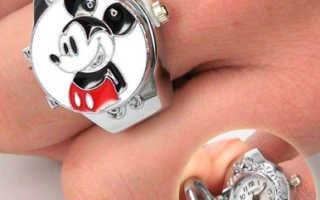 Необычные часы в форме кольца