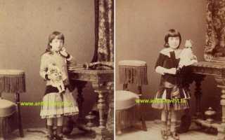 Старинные куклы и девочки на антикварных фотографиях