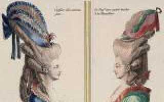 Прически в стиле барокко – фото, картины и история