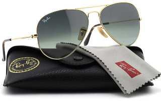 Золотые очки Авиаторы Ray-Ban
