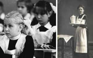 Почему советская школьная форма была похожа на костюм горничной