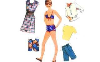 Бумажные куклы с одеждой для вырезания, фото
