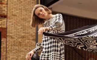 Платья из платков 2020 – фото и советы