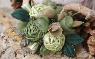 Цветы из ткани, необходимые инструменты, мастер классы