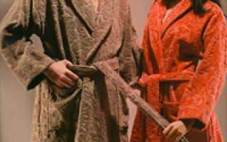 История о теплом домашнем халате и роскошных халатах с Востока