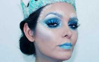Снежная королева – фото макияжа и костюмы