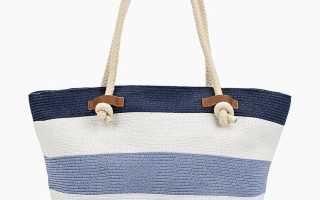 Соломенная женская сумка для пляжа и города