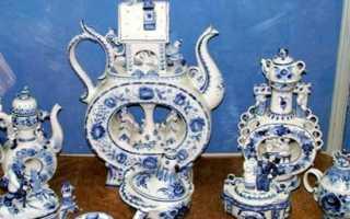 Гжель – роспись посуды вышивка и история