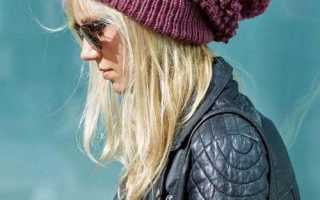 Вязаные шапочки – образы модных блогеров